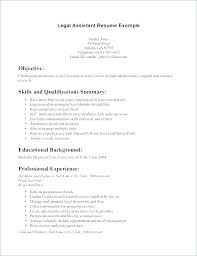 Paralegal Resume Template Magnificent Qualification In Resume Sample Summary Of Skills Resume Sample