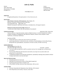 student respiratory therapist resume samples templates new ...