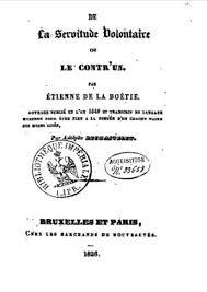 Discours De La Servitude Volontaire Wikipédia