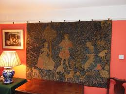 large antique tapestry wall hanging
