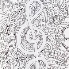 Small Picture A musical page from Color Me Happy part of the Zen Coloring book