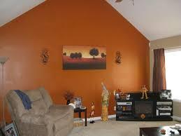 Orange Paint Colors For Living Room Living Room Orange Cushions Lampshade Decor Sofa Set Geometric