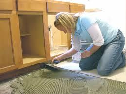Re Tiling Kitchen Floor Kitchen Upgrade Installing Floor Tiles How Tos Diy
