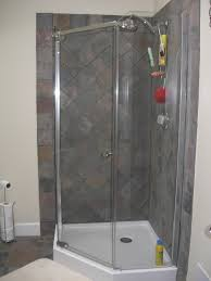 corner shower enclosure kits. nice gray ceramic wall plus charming home depot corner shower for bahtroom enclosure kits a