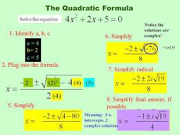 the quadratic formula 4 1 identify a b c 6