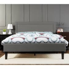 Portsmouth Double Size <b>Linen Fabric Bed Frame</b> - Grey | Buy ...