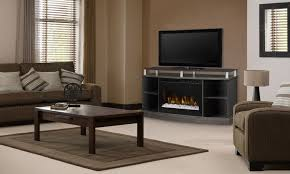 windham silver charcoal media console electric fireplace with acrylic ember bed