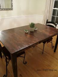 Rustic Furniture Stain Colossal Diy Failor Rustic Dining Room Table Makeover