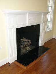 nero marquina marble fireplace black