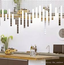 Small Picture Wall Stickers Home Dcor Square Crystal Mirror Wall Decals