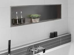 stainless steel bathroom wall shelf container box wall niche by ess easy drain