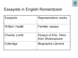 the th century literature ppt video online  essayists in english r ticism