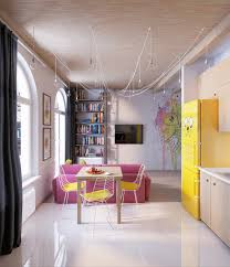 Colorful Interior Design colorful apartment interior design with charming feature roohome 4189 by uwakikaiketsu.us