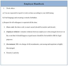 Free Employees Handbook Fascinating Free Employee Handbook Templates Ulyssesroom