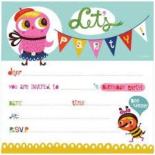 printable kid birthday cards birthdays invitation girl owl cartoon clip art and colorful font for