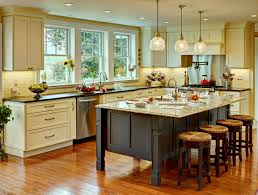 ... Farmhouse Kitchen With Elegan Future Wooden Floor Tables And Chairs 4  Sets: outstanding ...