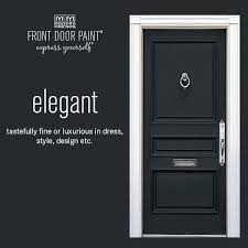 modern masters non fade front door paint in the color elegant black black front door