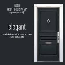modern masters non fade front door paint in the color elegant black black front door