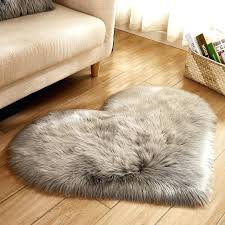 gray faux fur rug gray rose white heart shaped faux fur rugs and carpets for home gray faux fur rug