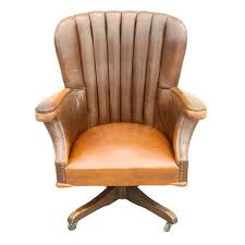 vintage office chair. large vintage desk chair with original leather circa 1940u0027s office l