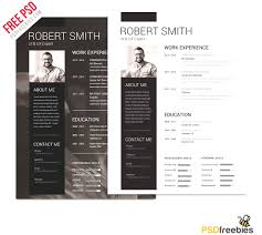 Contemporary Resume Templates Free Simply Modern Resume Templates Free Download Psd Simple And Clean 16