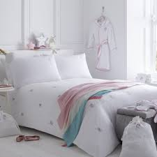 unicorns organic cotton king size duvet cover