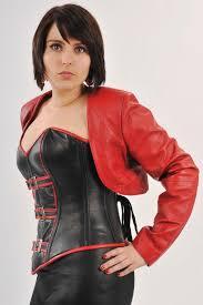 clothing s leather shrug jacket short sleeve gothic black steampunk plus size corset jacket bolero