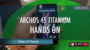 Archos 45 Titanium Hands On - YouTube