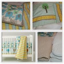 Land of Nod - Elephant crib bedding