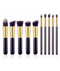 dream maker makeup brush set of 10 pieces with pu leather bag