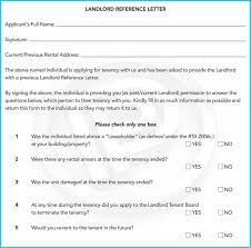 Landlord Reference Letters New Landlord Reference Letter Example Images Letter Format Formal Sample