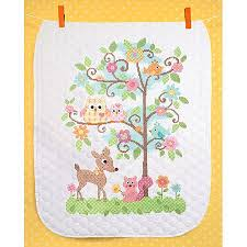 Cheap Stamped Cross Stitch, find Stamped Cross Stitch deals on ... & Get Quotations · Dimensions Baby Hugs Happi Tree Quilt Stamped Cross Stitch  Kit, ... Adamdwight.com
