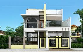 House Elevation Flat Roof  Real Estate  Pinterest  House Two Storey Modern House Designs