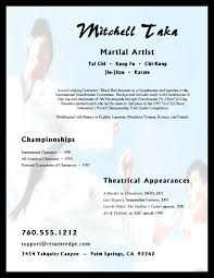 Arts Resumes Martial Arts Training Resume Free Sample Resumes
