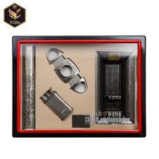 yujia cigar gift set with cigar lighter cutter and ashtray gift wall display