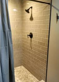 bathroom remodel tile shower. alcove tile shower built into existing closet during bathroom remodeling process remodel n