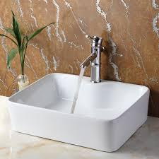 narrow bathroom sink. Ceramic Rectangular Vessel Bathroom Sink Narrow
