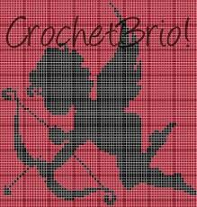 Crochet Pattern Chart Details About Crochet Patterns Cupid With Bow Arrow Graph Chart Afghan Pattern 80 X 83