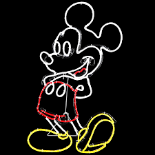 disney pre lit mickey mouse sculpture with constant multicolor led lights