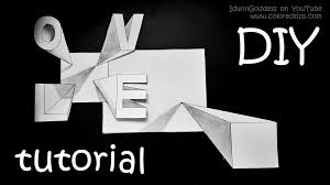 how to draw 3d drawings tutorial easy optical illusions step by step instructions you