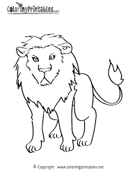 Lion Coloring Page Printable