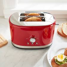 kitchenaid kmt2116er empire red 2 slice toaster with high lift lever 120v