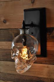 Outdoor Skull Lights Lighting Expert Creates A Spooky Skull Wall Sconce From