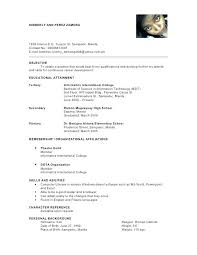 Resume Reference Example Resume Character Reference Example Resume