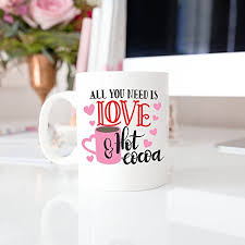 Valentine's day, also called saint valentine's day or the feast of saint valentine, is celebrated annually on february 14. Valentines Day Mug All You Need Is Love And Hot Cocoa Personalized Mug Wedding Mugs Love Mug Custom Mug Valentine Gift 11oz 15oz Gift Buy Online In Suriname At Suriname Desertcart Com Productid