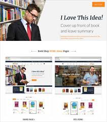 book publishing templates 30 book store website themes templates free premium templates