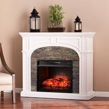 lambert electric fireplace with faux stone ideas