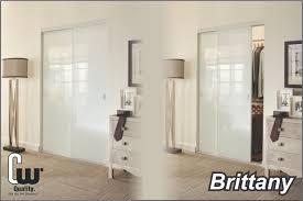 sliding closet doors with white glass
