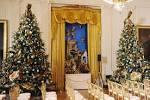 White house christmas decorations tour