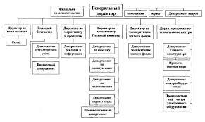 Внешне экономическая деятельность предприятия на примере ООО  Организационная структура управления и принципы её построения
